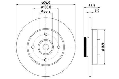 Hella 8DD355111331 Bremsscheibe (einzeln verkauft)