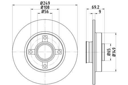 Hella 8DD355116431 Bremsscheibe (einzeln verkauft)