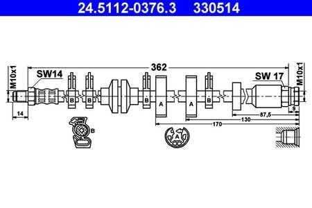 ATE 24.5112-0376.3 Bremsschlauch