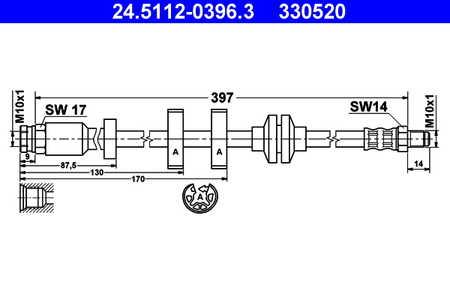 ATE 24.5112-0396.3 Bremsschlauch