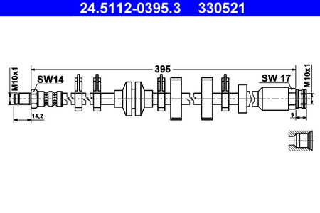 ATE 24.5112-0395.3 Bremsschlauch