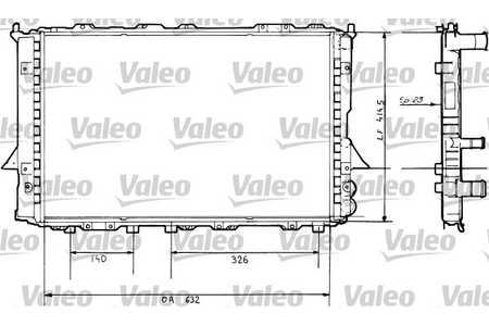 Valeo 730360 Kühler, Motorkühlung
