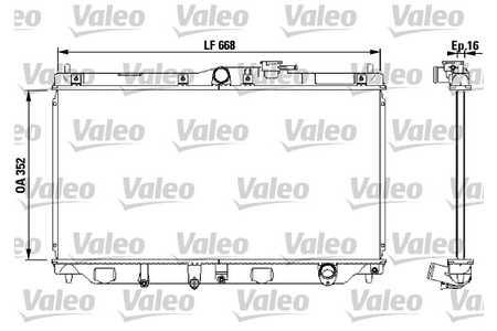 Valeo 731076 Kühler, Motorkühlung