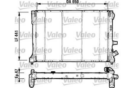 Valeo 731129 Kühler, Motorkühlung