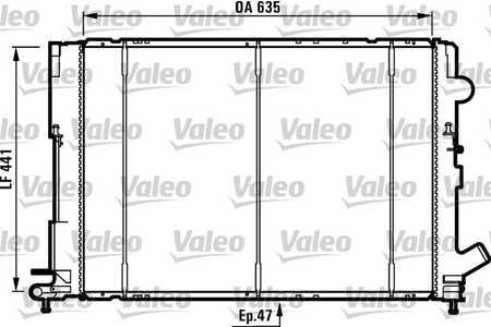 Valeo 731161 Kühler, Motorkühlung