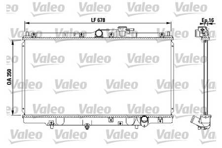 Valeo 731471 Kühler, Motorkühlung