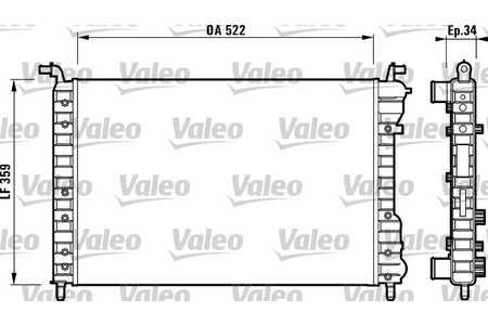 Valeo 732006 Kühler, Motorkühlung