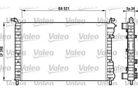 Valeo 732007 Kühler, Motorkühlung