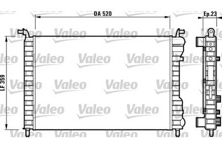 Valeo 732812 Kühler, Motorkühlung