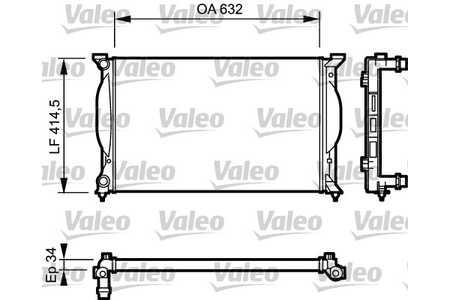 Valeo 732963 Kühler, Motorkühlung