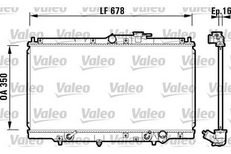 Valeo 734109 Kühler, Motorkühlung