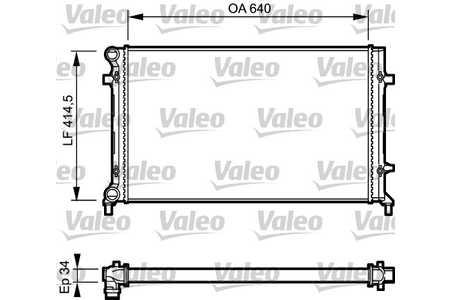 Valeo 734335 Kühler, Motorkühlung
