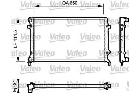 Valeo 735120 Kühler, Motorkühlung