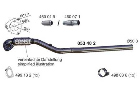 Flexrohr OPEL Astra G Coupe F07 1.8 16V 85 KW 116 PS