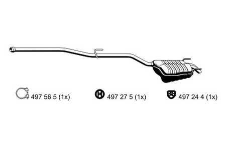 Mercedes C200-220 100-110kW ENDSCHALLDÄMPFER AUSPUFF