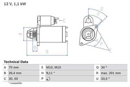 ANLASSER STARTER PASST FÜR MERCEDES SPRINTER W210 W211 W163 W463 W220 320 CDI