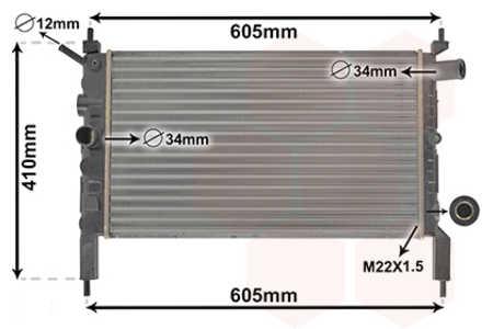 53/_, 54/_, 58/_, 59/_ 2.0 GSI 16V Kühler OPEL ASTRA F CC