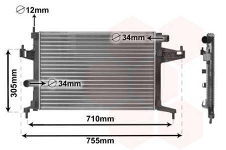 Van Wezel 37002303 Radiador refrigeraci/ón del motor