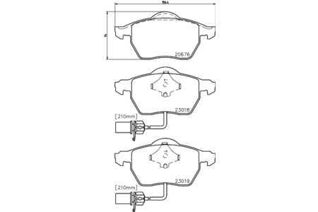 Textar 2301802 Bremsbelagsatz, Scheibenbremse