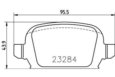 Teilebild Textar Bremsbelagsatz HA Bremse Lucas für Opel Cor