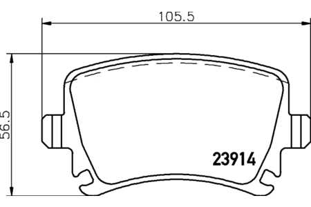 Textar 2391401 Bremsbelagsatz, Scheibenbremse