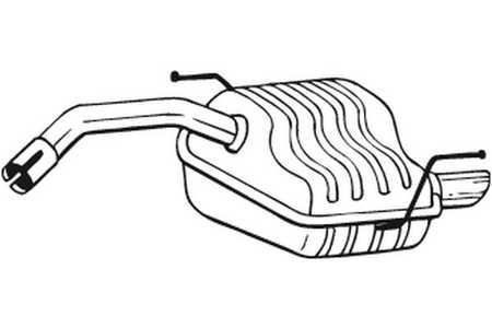 Bosal 100171 Endschalldämpfer