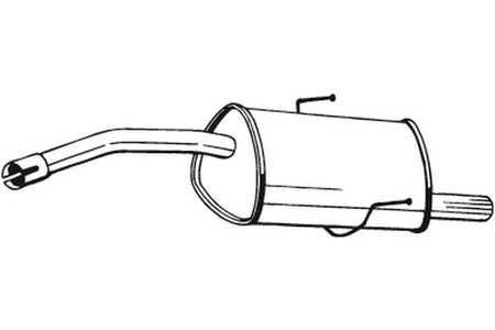 Bosal 100327 Endschalldämpfer