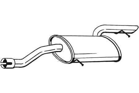 IMASAF Auspuff Endtopf Anbauteile Mercedes-Benz Viano//Vito Kompakt