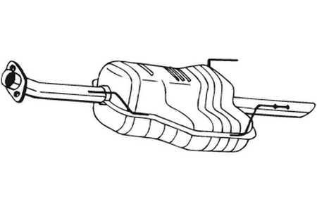 Endschalldämpfer OPEL ASTRA G 2.0DTI 16V,2.2DTI Kombi 2003-2004 Endtopf Auspuff