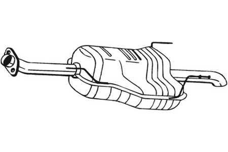 185-339 Auspuff Endschalldämpfer Auspuffanlage Endtopf BOSAL