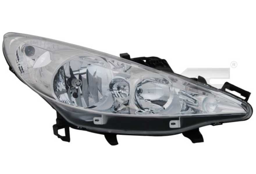 Hauptscheinwerfer TYC 20-1060-05-2 links H7// H1 für Peugeot 207 WA WC SW WK 1.4
