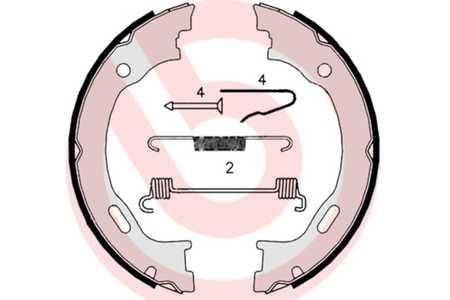 S 50 516 Bremsbacken Bremsbackensatz Handbremse NEU BREMBO