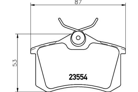 Mintex MDB1377 1 Satz Mintex Bremsbelag HA VW Golf 4/5/6 Passat P