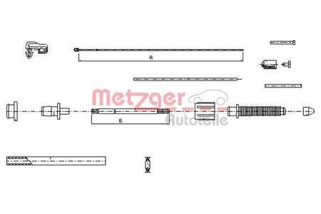 Metzger 10.0382 Gaszug COFLE