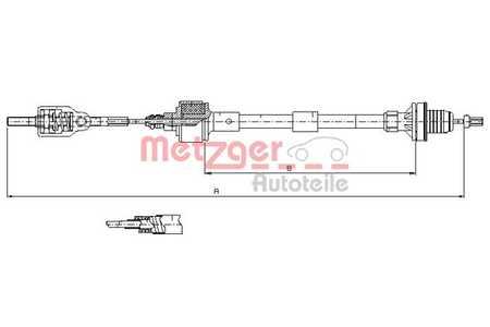 Metzger Seilzug, Kupplungsbetätigung