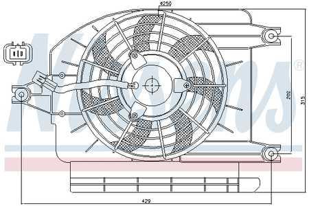 Ventilador, condensador del aire acondicionado Kia CARNIVAL