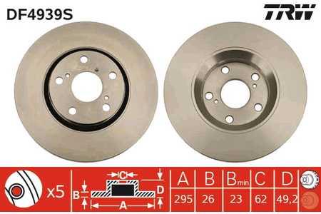 Toyota Avensis 1.8 T27 Mintex Disques de Frein Avant /& Plaquettes De 2009 />