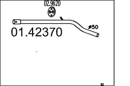 Auspuff Mittelschalldämpfer Fiat Punto 188 1.2 16V 80 59 kW Flexrohr