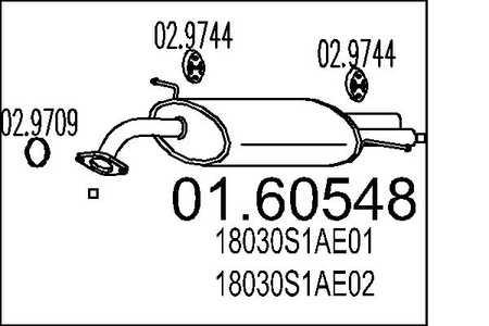 16V  2.0i 16V Stufenheck Endschalldämpfer Auspuff  Honda Accord 1.8i