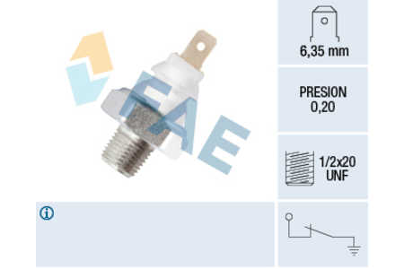 Teilebild Öldruckschalter FAE 11700