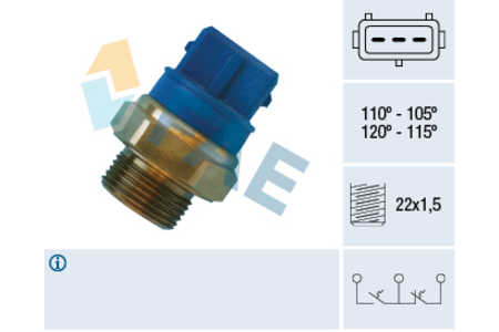 Teilebild Thermoschalter Opel VECTRA B 1.6-2.6i/16V/V6 2.0Di