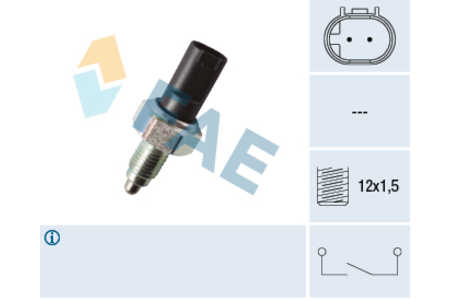Teilebild Schalter für Rückfahrleuchte Rückfahrlichtschalter