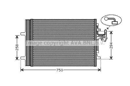 8FC 351 303-201 Hella Condensador De Aire Acondicionado