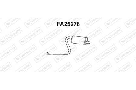 MTS 01.56170 Mittelschalldämpfer für FIAT