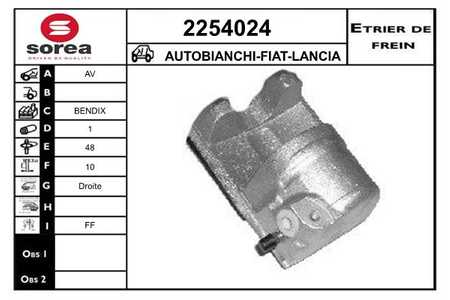 EAI 2254024 AUTOBIANCHI-FIAT-LANCIA-SEAT-ZASTAVA