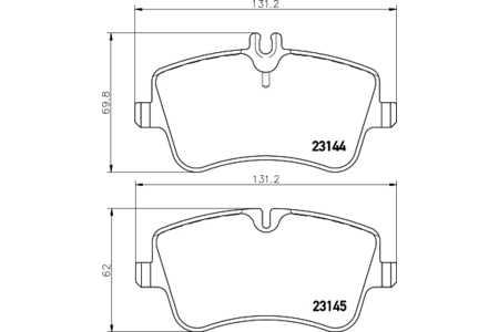 HELLA PAGID 8DB355018351 Bremsbeläge Mercedes C-Klasse W203 CLK C209 SLK R1